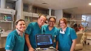 Drs. Gislaine, Paulo R. Margotto, Marta DR Moura e Vera. UTI Neonatal do Hospital  Santa Lúcia -10-10-2019
