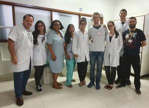 Drs. Paulo R. Margotto e Marta DR de Moura com os Estudantes do UNICEUB (23/10/2019)