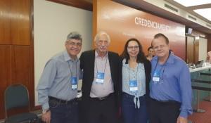 Drs. Sergio Veiga, Pedro (Grande Homenageado!), Joseleide de Castro e Paulo R. Margotto (NEOBRAIN BRASIL, 9/11/2019)