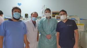 Drs. Antônio, Paulo R. Margotto, Igor  Harley e Marcos, Residentes de Neonatologia da Unidade de Neonatologia do HMIB/SES/DF(16/9/2020)