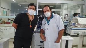 Dr. Antônio Batista de Freitas Neto  (R3 em UTI Pediátrica do  HMIB/SES/DF) e Dr. Paulo R. Margotto (11/11/2020)