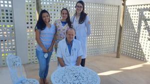 Novos Residentes na Unidade de Neonatologia do HMIB em 24/3/2021:Drs. Lays, Mayara, Carol e Paulo R. Margotto