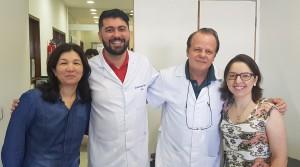Drs. Adriana Fernandes, Gustavo Borela, Paulo R. Margotto e Tatiana (17/4/2019)