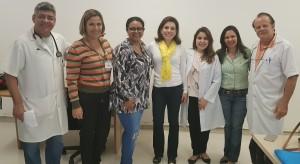 Dr. Sérgio Veiga, Miza Vidigal, Marta Rocha de Moura, Melissa, Gabriela, Ana Paula e Paulo R. Margotto (30/5/2018)