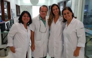 Drs. Katia Karasawa, Paulo R. Margotto, Andreia Mendonça  e Bárbara Viana (Curso de Ecografia Pediátrica no  NEXUS (17/3/2019)