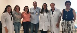 Drs. Ana Paula, Lisliê Capoulade, Flávia Guimarães, Bruno, Thynara Leonel Bueno, Paulo R. Margotto, Telma Carvalho Pereira (Sessão de Anatomia Clínica em 27/32019)