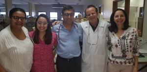 Drs. Marta DRde Mour, Daniela, Carlos Zaconeta, Paulo R. Margotto e Joseleide de Castro (8/4/2019)