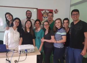 Dr. Diogo Pedroso (em verde) com os R3-R4 da Neonatologia do HMIB (9 de novembro de   2018)