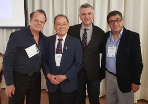 Drs.Paulo R. Margotto, JT Wung, Guilherme Sant´Anna e Carlos A. Zaconeta (1o Simpósio Internacional de Neonatologia do DF e HMIB (25 a 27 de outubro de  2018)