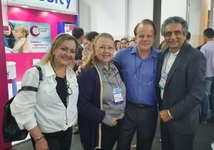 22o Simpósio Internacional de Neonatologia do Santa Joana (SP):Drs. Ana Amélia, Edna Diniz, Paulo R. Margotto e  Lucky Jain (EUA) em 14/9/2019