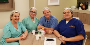 Drs. Amélia, Ana Lúcia Gaudêncio, Paulo R. Margotto e Inajara (Maternidade Brasília, 16/4/2019)