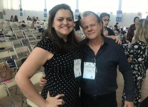 Dra Inajara e Paulo R. Margotto - 1º Simpósio Internacional de Neonatologia do DF e HMIB (26-10-18)