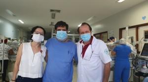 Drs. Joseleide de Castro, Antonio e  Paulo R. Margotto-30-9-2020 (Unidade de Neonatologia do HMIB/SES/DF)