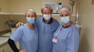 Drs. Lili, Paulo R. Margotto e  Ana Lucia-Maternidade Brasília (4-8-2020)