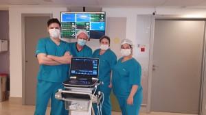 Drs. Roberto,  Paulo R. Margotto, Vera e Juliana-UTI Pediátrica do Hospital Santa Lúcia em 22/9/2020