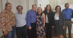 Drs. Olga Messias, Raulê de Almeida, Paulo R. Margotto, Maria Alves Suassuna. Ana Lúcia e José Rodrigues (25-10-2018)