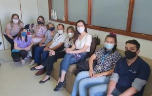 Residentes de Neonatologia da Unidade de Neonatologia do HMIB/SES/DF na Reunião das 7 horas (15/9/2020)