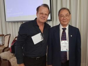 Drs. JT Wung e Paulo R Margotto (1o Simpósio Internacional de Neonatologia do DF e HMIB (25 a 27 de outubro de  2018)