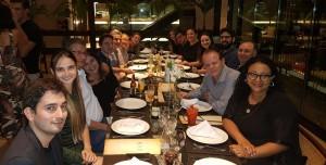 Jantar com os Drs. Wung,Guilherme  Sant´Anna,Mauricio,Gabriel