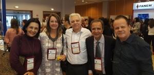 11o Simpósio Internacional do Rio de Janeiro. Drs. Licia, Leila, Paulo Nader, José Maria e Paulo R. Margotto