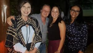 Drs. Márcia Pimentel, Paulo R. Margotto, Kate e Marta Rocha (5/7/2019)