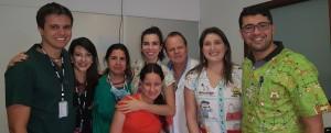 Drs. Marcos Vinícius, Renata Araripe, Fabiana Pontes, Letícia (frente), Milena, Paulo R. Margotto, Patrícia e Gustavo Borela (15-10-18)