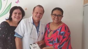 Drs. Sandra Lins, Paulo R. Margotto e Marta DR de Moura em 18/3/2020