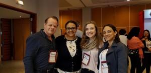 11o Simpósio Internacional do Rio de Janeiro (20-23/6/2018). Drs. Paulo R. Margotto, Marta Rocha, Maria Eduarda e Evelyn Mirela
