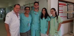 Acadêmicos do 1o Ano da Faculdade de Medicina do UNICEUB.Drs. Paulo R. Margotto, Dra Marta David Rocha de Moura, João Guilherme, Isabella, Natália  (18/6/2018)