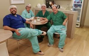 """Drs. Marc (""""Max""""), Ana Lúcia, Orestes e Paulo R. Margotto-Hospital Maternidade Brasília (6/2/2019)"""
