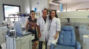 Drs. Milena, Paulo R. Margotto e Joseleide de Castro