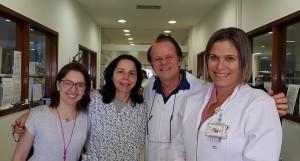 Discussão sobre Kernicterus na Residência do HMIB/SES/DF: Drs. Tatiane, Joseleide de Castro, Paulo R. Margotto e Miza Vidigal (19/5/2019)