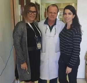 Drs. Miza Vidigal, Paulo R. Margotto e Milena (R4-Neonatologia do  HMIB) em 7/8/2019