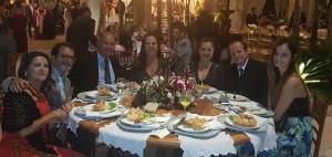 Drs. Nivaldo e Esposa, Márcio Morem e Esposa, Ana Amélia e Paulo R. Margotto e Filha, Paula Cristina (22/6/2019)