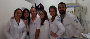 Internato-Universidade Católica de Brasília (30/5/2018): Ddos. Natalia, Thalissa, (Dr. Paulo R Margotto), Polyana, Ana Carolina e Lucas