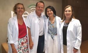 Profs do  Curso Ecografia Pediátrica do  Nexus (Drs. Maria Montserrrat, Paulo R. Margotto, Telma Sakuno e Rosemeire Garcia (14/3/2019)