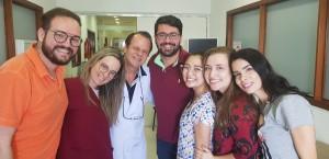 R4 de Neonatologia (HMIB) (3/4/2019). Drs. Andre, Lorena,(Dr. Paulo R. Margotto), Borela, Daniela, Maria Eduarda e Milena (3/4/2019)