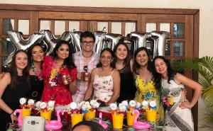 Festa dos R4 de Neonatologia do HMIB (17/2/19):Drs. Fernanada, Lara, Deborah, Marcos, Evelyn (Coordenadora), Patrícia, Deyse e Letícia: