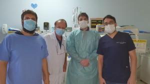 Residentes de Neonatologia no HMIB/SES/D:   Antônio, Igor Harley e Marcos em 16-9-2020