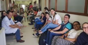 Reunião  das 8 horas da Neonatologia do HMIB quando foi Apresentado a Prova da 4a Edição do Livro Assistência ao Recém-nascido de Risco , 2019 (19/12/2018)