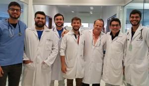 Internos da Neonatologia do HMIB/SES/DF (27/6/2018): Doutorandos  Rodrigo, GuilhermeThomé, Felipe Aguiar, Moisés, (Dr. Paulo R. Margotto), Guilherme Queiroz e Felipe Borges