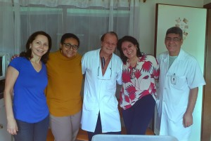 Drs. Joseleide de Castro, Marta DR de Moura, Paulo R. Margotto, Sandra Lins e Sérgio Veigas em 4/3/2020