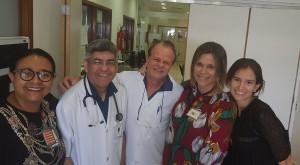 Drs. Marta DR de Moura, Sérgio Veiga, Paulo R. Margotto, Miza Vidigal e Nathália Bardal (14/8/2019)