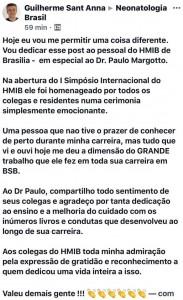 Homenagem do Dr. Guilherme Sant´Anna no FACE!