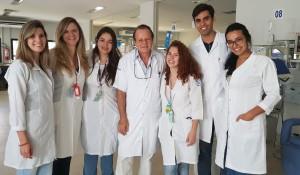 Doutorandos da Faculdade de Medicina da Universidade Católica de Brasília:Bruna Ribeiro, Brunna Garotti, Sarah Rocha, (Dr. Paulo R. Margotto), Júlia Andrade, Auro Paiva, Esther Agnes (16/04/2018)