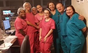 UTI Neonatal do Hospital Santa Lúcia: Drs. Márcia Pimentel, Paulo R. Margotto e Vitória Simões e Enfermagem (28/5/2019)