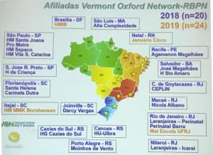 A Unidade de Neonatologia do HMIB/SES/DF é Afiliada da Rede Vermont Oxford Network. Parabéns a todos por essa Conquista! (abril/2019)