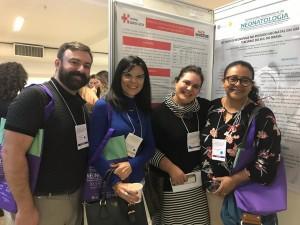 Drs. Fabiano, Rita Silveira, Sandra Lins  Marta DR de Moura (VI Encontro Internacional de Neonatologia, Gramado, 11/4/2019